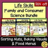 Life Skills Family and Consumer Science Bundle Home Economics Sorting Mats