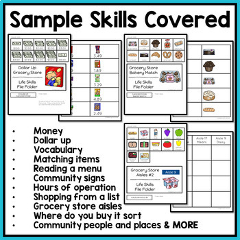 Life Skills File Folder Activities - Special Education and Autism Resource