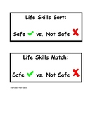Life Skills File Folder Sorting and Matching Activity: Saf