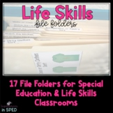 Life Skills File Folders (17 folders total) for Students with Special Needs