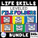 Life Skills File Folder BUNDLE (SPED/AUTISM/ELEMENTARY/MIDDLE/HIGH)