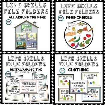 Life Skills File Folder BUNDLE (SPED/AUTISM/ELEMENTARY/MIDDLE/HIGH)