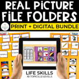 Life Skills File Folders Bundle for Special Ed (REAL PICTU