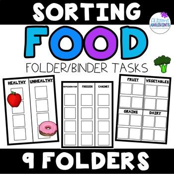 Life Skills File Folders- Food