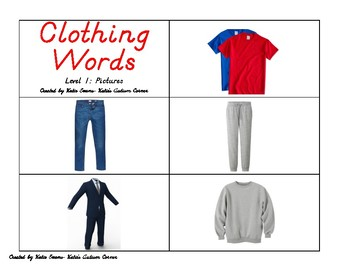 Life Skills Flip Book Flash Cards- Set 4: Clothing Words