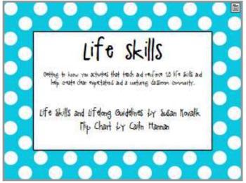Life Skills Flip Chart