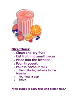 Life Skills- Fruit Smoothie