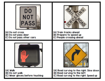 Life Skills - Google Drive - Road Signs - Driving - Permit Practice - Task Cards