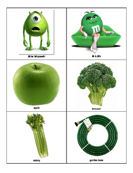 Life Skills: Green Things vs. Red Things