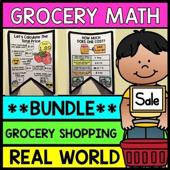 Life Skills Grocery Shopping: Figuring Out Sales Tax and Coupons {BUNDLE}