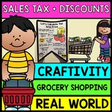 Life Skills Grocery Shopping: Figuring Out Sales Tax and Coupons {Craftivity}