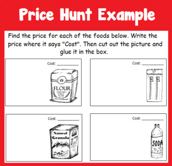 Life Skills Special Education Grocery Shopping, Newspaper Ad, and Recipe Unit