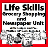 Life Skills Distance Learning Special Education Grocery Shopping and Recipe Unit