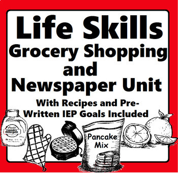 Life Skills Special Education Grocery Shopping, Newspaper