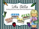 Life Skills Grocery Sorting Task