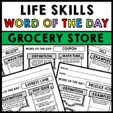 Life Skills - Grocery Store - Grocery Shopping - Vocabulary - Word of the Day