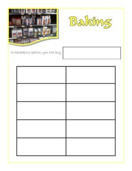Life Skills Grocery Store Sections Food Sort 2