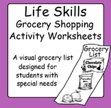 Life Skills Grocery Store Shopping List Activity Worksheets