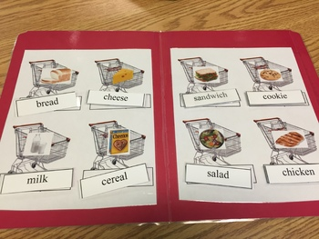 Life Skills: Grocery Store Word to Picture Match File Folder Game