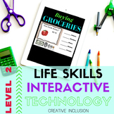 Life Skills, Grocery and Money Digital Interactive Lessons