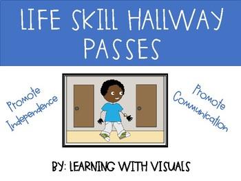 Life Skills Hallway Passes with Visual Communication Support