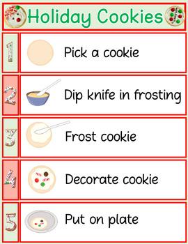 Free Life Skills Holiday Cookie Recipe Visuals
