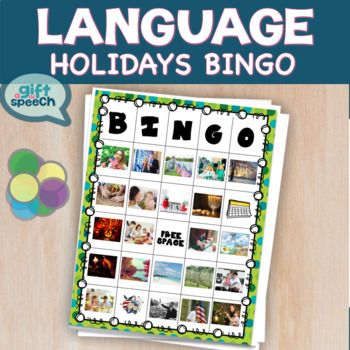 Holidays and Seasons Bingo Speech Therapy Life Skills Moderate to Severe Autism