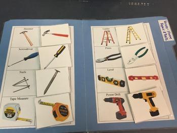 Life Skills- Home Repair Picture Match (generalizing) file folder