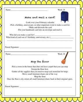 Life Skills Homework Packets Bundled
