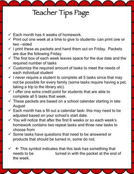 Life Skills Homework Packets Month 2