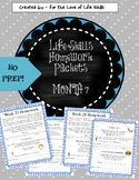 Life Skills Homework Packets Month 7