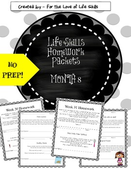 Life Skills Homework Packets Month 8