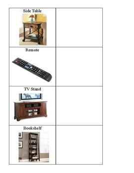 Life Skills: Household Items File Folder Games Bundle Pack (Special education)