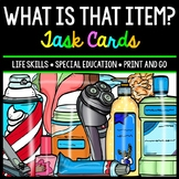 Life Skills - Identify Household Items - Task Cards - Special Education