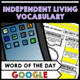 Life Skills - Independent Living - Apartments - Word of the Day Vocab - GOOGLE