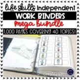 Life Skills Independent Work Binders: MEGA BUNDLE