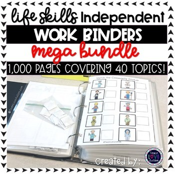 Life Skills Independent Work Task Binders  ***GROWING BUNDLE