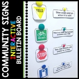 Life Skills - Interactive Bulletin Board - Community Signs - Special Education