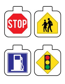 Life Skills - Interactive Bulletin Board - Community Signs - Special Education