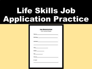Life Skills Job Application