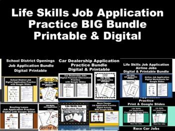 Life Skills Job Application Practice Bundle