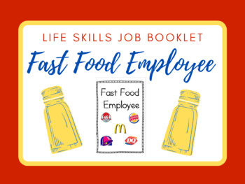 life skills job booklet fast food employee
