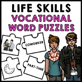 Life Skills - Job Vocabulary - Vocational Words - Transition - Puzzle