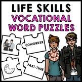 Life Skills - Job Vocabulary - Vocational Words - Transition - Puzzle