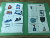 Life Skills- Laundry Room Things Picture Match (generalizing) file folder game