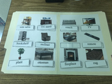 Life Skills: Living Room Vocabulary (word to picture match) File Folder Game