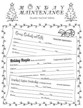 "Life Skills: MONDAY MAINTENANCE 4.1 December ""Cool Yule"""