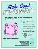 Life Skills: Make Good Eye Contact Poster