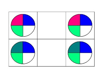 Special Education: Match 4 Color Fractions
