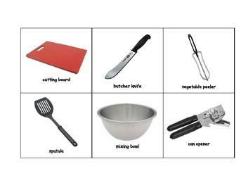 Special Education: Match Meal Preparation Tools